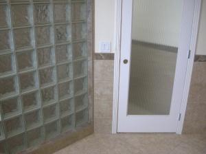 Glass Block, Tile Wainscoating, Tile Floor in Master Bath - Bend, Oregon