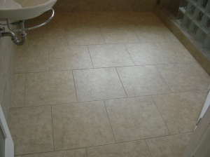 20 by 20 Offset Pattern - Floor To Shower