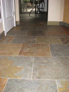 Slate Floor With Offset Pattern