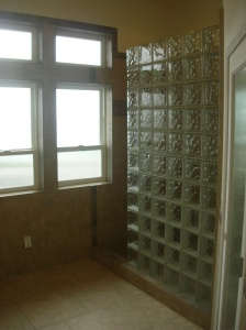 Shower With Glass Block Wall