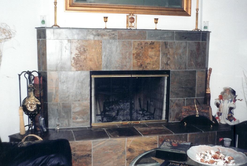 Fireplace Design slate fireplace : Fireplaces | Tile Bend Oregon | Brian Stephens Tile, Inc.